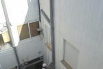 Cámbio de tramo deteriorado en bajante , se sustituyen codos , se termina con mortero enlucido y pintura blanca.