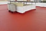 Impermeabilización de terraza con fibra liquida y pintura impermeabilizante polimérica de alta resistencia