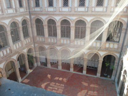 Instalación mallas antipájaros Valéncia Trabajos verticales Valéncia www.solvertvalencia.com